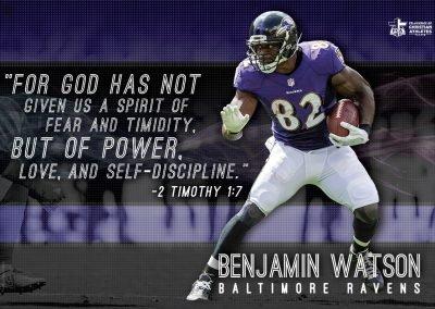 Benjamin Watson – Baltimore Ravens